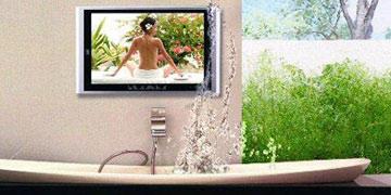 badkamer tv waterdichte televisie in de badkamer of tuin het grootste assortiment van europa. Black Bedroom Furniture Sets. Home Design Ideas